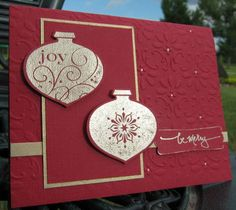 Golden Ornaments by cardmaker2 - Cards and Paper Crafts at Splitcoaststampers