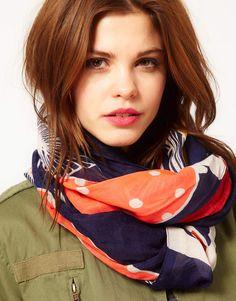 war eagle orange blue auburn gameday scarf