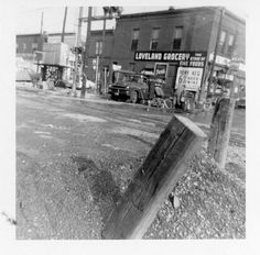 1959 Flood on Jackson St where Paxton's Grill is now - Loveland