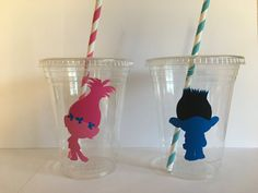 Trolls Party Cups by PartyOnCreations on Etsy