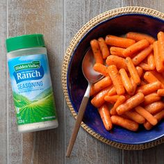 There's no need to dip these flavor-packed carrots in a creamy dip—they're already sauteed in delicious ranch dressing mix. You and your crew will love 'em! —Taste of Home Test Recipes That … Glazed Baby Carrots, Baby Carrot Recipes, Vegetable Recipes, Carrots Side Dish, Ranch Dressing Mix, Ranch Recipe, Ranch Seasoning, Amigurumi, Alonso Mateo