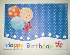 Happy B-day Balloons on blue Happy B Day, Balloons, Happy Birthday, Greeting Cards, Kids Rugs, Blue, Home Decor, Happy Brithday, Happy Brithday