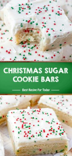 Ingredients For the sugar cookie bars: 1 stick cup) salted butter softened to room temp. Holiday Baking, Christmas Desserts, Holiday Treats, Christmas Treats, Christmas Baking, Fun Desserts, Holiday Cakes, Holiday Recipes, Chocolate Chip Cookies