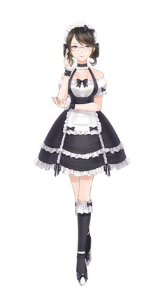 Requests are closed! I probably read all akatsuki fanfiction there… Maid Outfit Anime, Anime Maid, Anime Dress, Anime Outfits, Oc Manga, Chica Anime Manga, Kawaii Anime, Beautiful Anime Girl, Anime Love