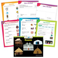 Houses Ebook & Worksheets – Creative Teaching Press Learn To Read Books, Improve Reading Comprehension, Nouns And Pronouns, Creative Teaching Press, Spelling Patterns, Math Work, Emergent Readers, Writing Words, Literacy Skills