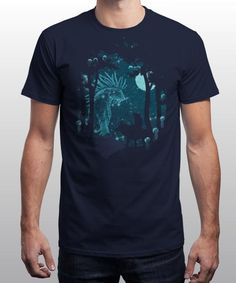 """Forest Spirit"" is today's £8/€10/$12 tee for 24 hours only on www.Qwertee.com Pin this for a chance to win a FREE TEE this weekend. Follow us on pinterest.com/qwertee for a second! Thanks:)"