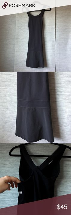NWOT LULULEMON DRESS BLACK SIZE 6 New. Black. Built in support bra lululemon athletica Dresses