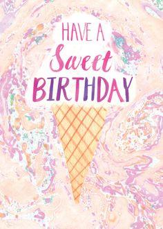 Woodmansterne Contemporary Blue Birthday card 412042 Happy