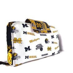 Diaper Clutch With Changing Pad And Wipes Case - University of Michigan Wolverines Print Three Piece Set on Etsy, $50.00
