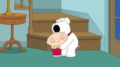 """Brian and Stewie hug in """"Family Guy"""" Peter Family Guy, Brian Family Guy, Family Guy Cartoon, Family Guy Stewie, Iphone Wallpaper For Guys, Man Wallpaper, Rick And Morty Meme, Family Guy Quotes, Griffin Family"""