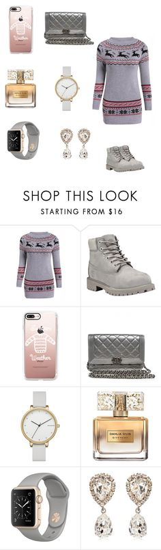 """3 more days 🎄🎅🏼"" by dajahknox ❤ liked on Polyvore featuring Timberland, Casetify, Chanel, Skagen, Givenchy and Dolce&Gabbana"