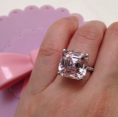 Asscher Cut Engagement Rings 2019 13 - On sale near me ideas Diamond Cluster Engagement Ring, Engagement Ring Cuts, Vintage Engagement Rings, Asscher Cut Diamond Ring, Diamond Rings, Pink Diamond Jewelry, Pink Ring, Bling Bling, Fashion Rings