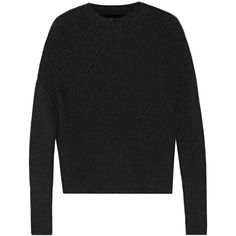 Rick Owens Crater ribbed cashmere-blend sweater (£645) ❤ liked on Polyvore