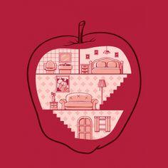 #apple #interior #design #lol #illustration #art #artist #creative #worm #family #parallel #universe #house #home #sweet #passion #fruit