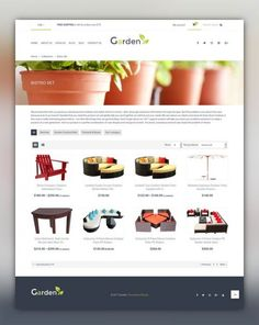 Garden Design Responsive Shopify Theme E-commerce Templates, Shopify Themes, Design & Photography, Design
