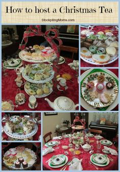 how to host a christmas tea collage This year my Mother was asked by KY Living Magazine to be featured in their November edition. You must host a full tea in August, decorate your home and prepare for Winter Tea Party, Christmas Tea Party, Noel Christmas, Christmas Goodies, Christmas Treats, Christmas Collage, Christmas Afternoon Tea, Christmas Recipes, Xmas