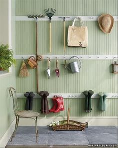 Like this idea for the garage & the shed.