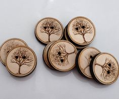 Custom button design tree button personalized by Sweetpinehills