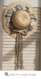 Shell Straw Hat - Click to enlarge