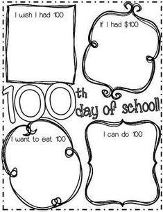 Day of School Printable by Naturally Curious Kinders Celebration Activities Celebration By Month Celebration Decorations Celebration Ideas Celebration Logo 100 Days Of School, School Holidays, School Fun, 100th Day Of School Crafts, School Projects, Classroom Fun, Classroom Activities, Holiday Activities, 100s Day