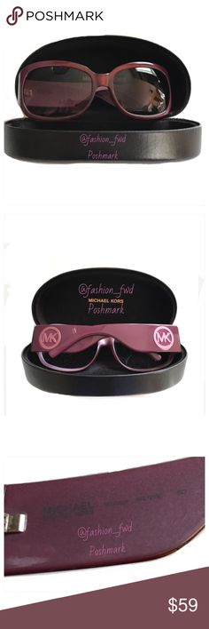 MICHAEL Michael Kors Mistique sunglasses Dark fuchsia with metallic flecks and pinkish trademarks. Comes with case/excellent condition. MICHAEL Michael Kors Accessories Sunglasses