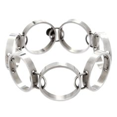 Visibly Interesting: Hans Hansen Architectural Sterling Bracelet circa 1960s
