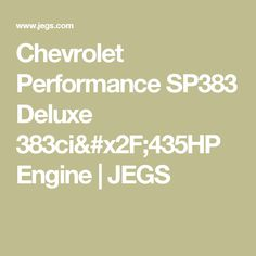 Blueprint engines crate engines stroker engines other custom chevrolet performance sp383 deluxe 383ci435hp engine jegs malvernweather Images