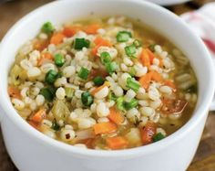Homemade Healthy Barley Soup - A perfect easy vegetarian recipe to add whole grains and vegetables into the diet. Ready to enjoy in about 30 mins. Healthy Soup, Healthy Cooking, Healthy Eating, Cooking Recipes, Cooking Pork, Cooking Turkey, Dinner Healthy, Cooking Salmon, Healthy Chicken