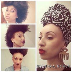 • Débora Cunha | Gente, o que são os penteados dela?! Nossa! Débora tem o cabelo natural e usa e abusa! Penteados, turbantes e makes incríveis vcs encontrão no insta dela  @debora_ninja