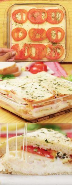 SANDUÍCHE DE FORNO de 15 minutos ! #sanduíche #forno #rápido #receita #gastronomia #culinaria #comida #delicia #receitafacil