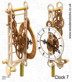 Download three new free wooden clock plans!