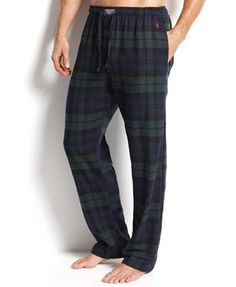 Plaid with Pop Mens Pajama Pants Personalized