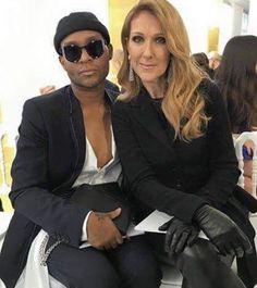 Céline Dion ao lado de Law Roach, seu novo stylist! Clica na foto pra conferir de perto o novo visual da cantora na Semana de Alta-Costura de Paris!