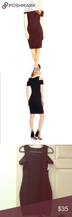Black cold shoulder jacquard body con dress Jessica Simpson black cold shoulder jacquard body con dress Jessica Simpson Dresses
