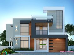 House Elevation, Front Elevation, Bungalow House Design, Modern House Design, Luxury Homes Interior, Home Interior Design, Beautiful Small Bathrooms, House Of Beauty, Contemporary House Plans