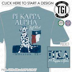 TGI Greek- Pi Kappa Alpha- Greek Apparel #PiKappaAlpha #Pike #Rush #Recruitment