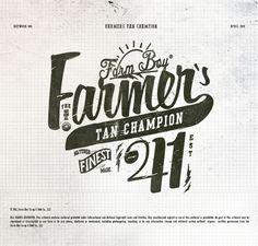 Farm Boy Typographic Illustrations on Typography Served