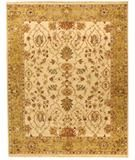 RugStudio presents Due Process Jagapatti Lilihan Cream-Gold Hand-Knotted, Best Quality Area Rug