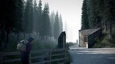 My images of Enterances to the Tatra National Park (TPN) in Poland.First prize winner in the architectural competition with architekci team. Cgi, Perspective, Photoshop Rendering, 3d Rendering, Render Design, Render Image, Architecture Visualization, Best Places To Live, Gate Design