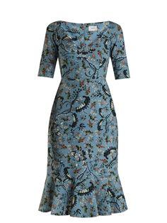Glenys Paisley Vine-print stretch cady dress | Erdem | MATCHESFASHION.COM