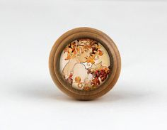 Fairy  Handmade Wooden Domed Dresser knobs Drawer by jade4wood, $4.20
