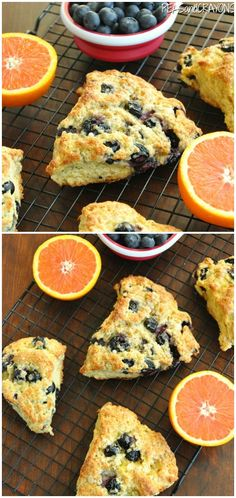 Let's get sconed! These honey glazed orange blueberry scones are easy to make and bursting with berry flavor! Serve them up for a tasty breakfast or brunch!