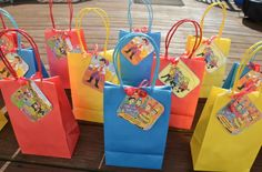 """Wiggles kids party bag """"Thank You"""" tags. Wiggles Cake, Wiggles Party, Wiggles Birthday, The Wiggles, Baby First Birthday, 3rd Birthday Parties, Birthday Ideas, Kid Parties, Hen Night Ideas"""