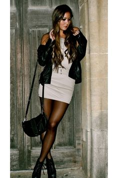 Can it be cold already so my girls and I can rock the leather jackets and mini dresses again?