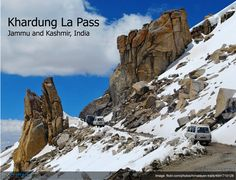 #Fact: Khardunga La pass located in the Ladakh region of Jammu and Kashmir (India) is the highest motorable pass in the world. It was built in the year 1976, at an elevation of 5,602 m (18,379 ft).  #JammuAndKashmir | #India | #Ladakh