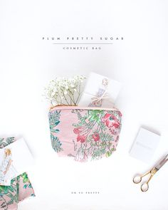 Oh So Pretty: Plum Pretty Sugar Cosmetic Bag//