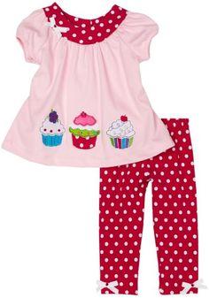 Rare Editions Baby-girls Infant Cupcake Legging Set