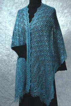 Fiddlesticks Knitting Peacock Feathers Stole Lace Knitting Pattern