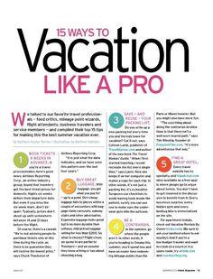 Vacation Tips - USAA Summer 2012