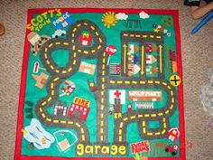 Make your own play mats (car one shown here) with just some felt and a glue gun!